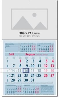 Calendar Бизнес календар 2019 Синьо/ Червено  Werbekalender