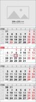 Calendar 4 monhts  Календар 4 тела Елит Черен 2019  Werbekalender 4-monat