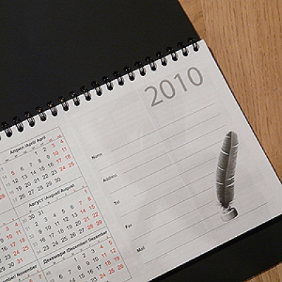 Календари - Настолен календар бележник с дати