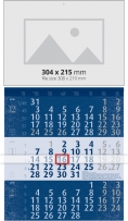 Calendar 3 monhts  2019 Календар 3 тела Лукс - Син  Werbekalender 3-monat